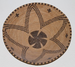 BASKET BOWL, STYLIZED STAR, CROSS, AMD WHIRLING FAN DESIGNS, APACHE, SOUTHWEST US