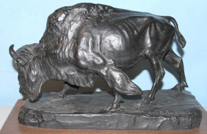 BRONZE BISON, ERNEST THOMPSON SETON