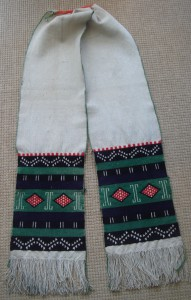 COTTON EMBROIDERED SASH, HOPI PUEBLO, ARIZONA copy