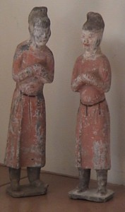 Ceramic Figures, Courtesans, China, ca.1800 A.D.