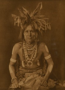 EDWARD S. CURTIS, PHOTOGRAVURE, THE NORTH AMERICAN INDIAN, PLATE 418, A SNAKE PRIEST