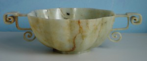 JADE BOWL WITH HANDLES 1, CHINA