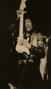 JIM WISEMAN, JIMMY HENDRIX AND HIS VERTICAL GUITAR