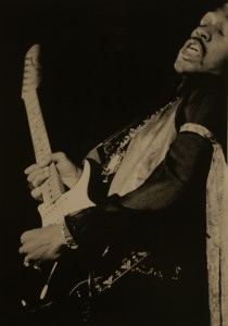 JIM WISEMAN, JIMMY HENDRIX LEANING OUT