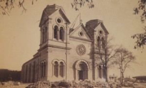 SANTA FE HISTORIC PHOTOGRAPH, ST. FRANCIS CATHEDRAL