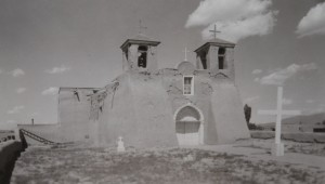 T. HARMON PARKHURST, MISSION CHURCH, RANCHOS DE TAOS