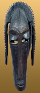 WOODEN-DANCE-HEADPIECEMASK-IN-THE-FORM-OF-AN-ABSTRACTED-ANTELOPE-ON-A-BASKETRY-CAP-CA.-1940-BAMANA-MALI-AFRICA