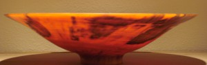 WOODEN LATHED BOWL, NORFOLK PINE, HAWAII