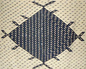 WOOL BLANKET (DETAIL), CENTRAL DIAMOND, SALTILLO, MEXICO