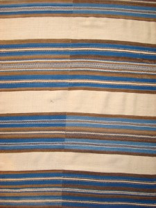 WOOL BLANKET (DETAIL), RIO GRANDE, NORTHERN NEW MEXICO, CA.1850-70