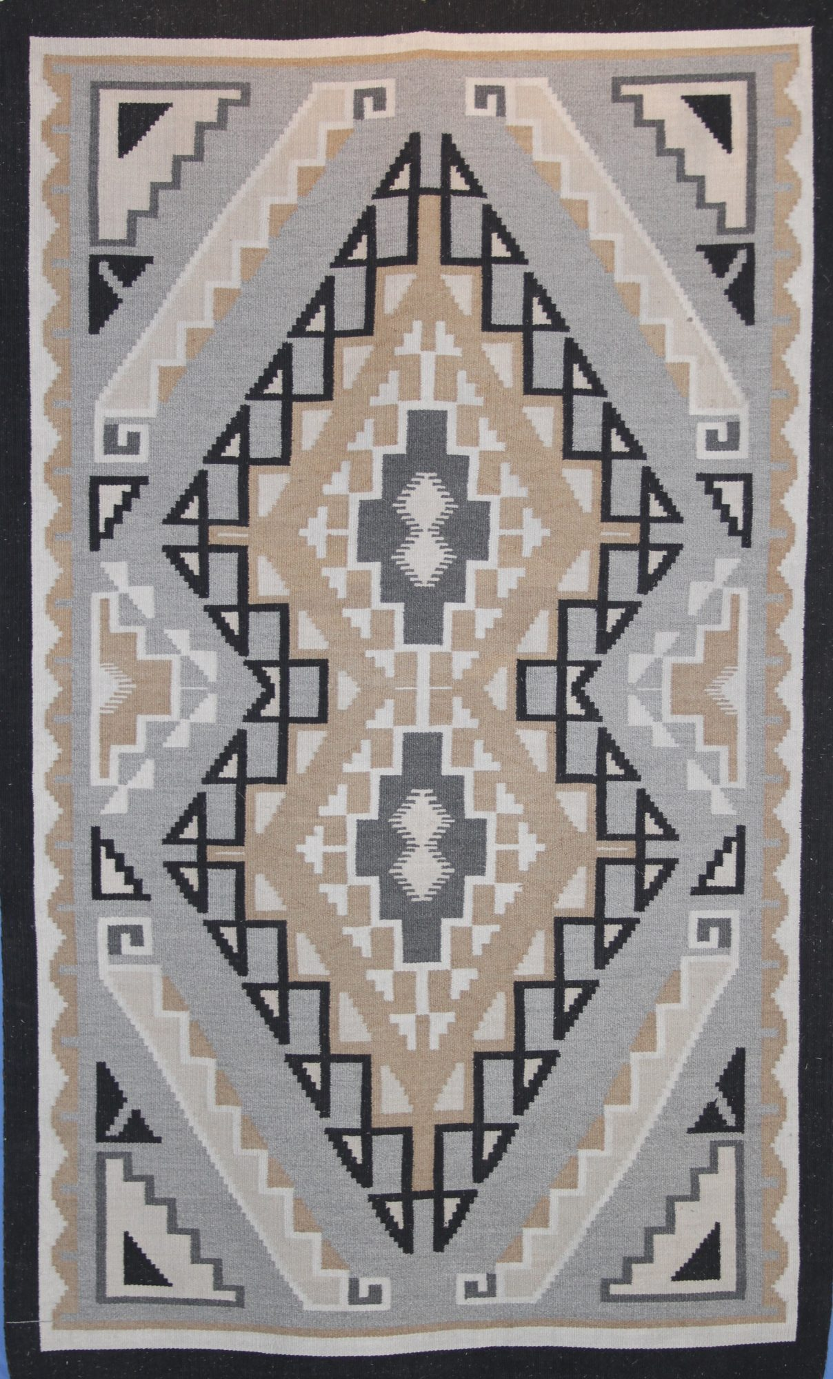 WOOL RUG, TWO GREY HILLS 1