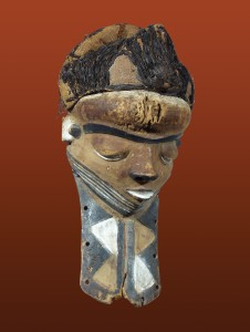 WOODEN MASK WITH BEARD, PENDE, AFRICA