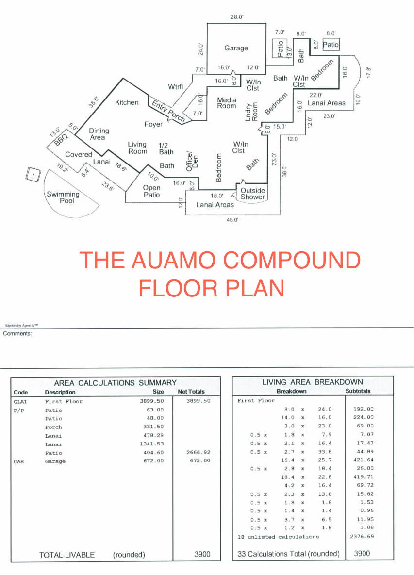 The Auamo Compound - Floor Plan