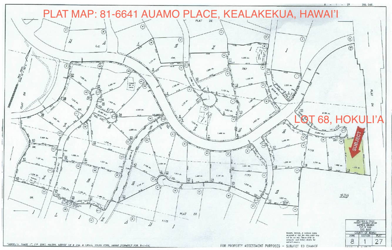 The Auamo Compound - Survey Plat