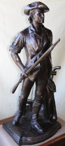 DANIEL CHESTER FRENCH, THE CONCORD MINUTEMAN OF 1775, FRONT