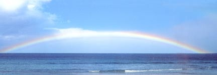 HAWAII RAINBOW OVER PACIFIC OCEAN