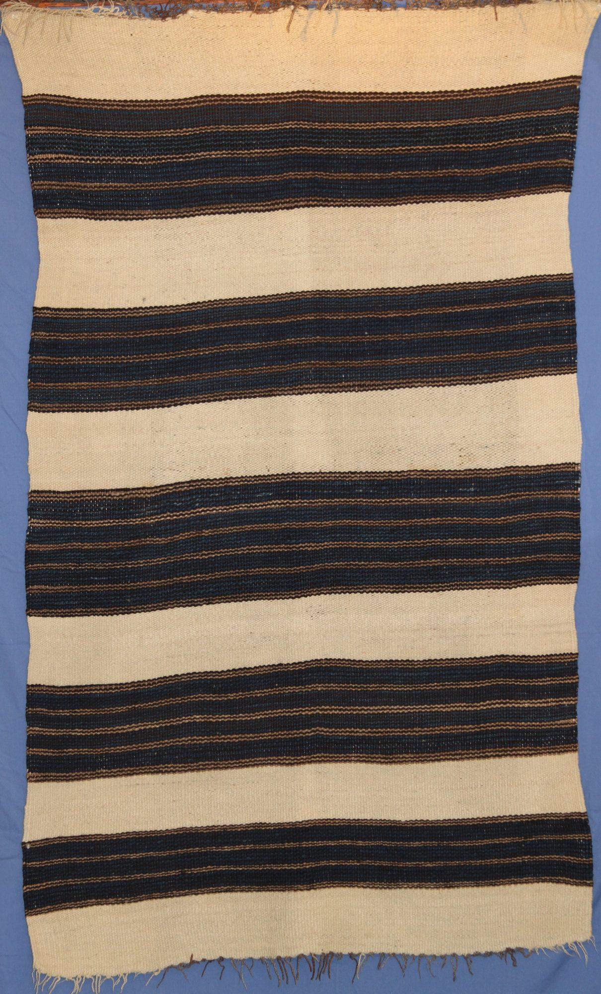 WOOL ZUNI MAN'S WEARING BLANKET CA. 1860