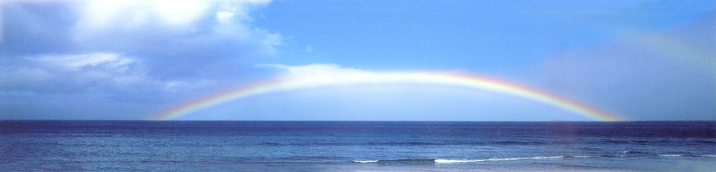8 Rainbow Over the Pacific Ocean