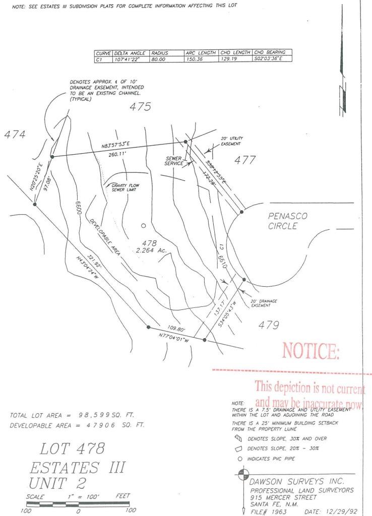 DE DOMENICO - SURVEY, Estates III, Lot 478