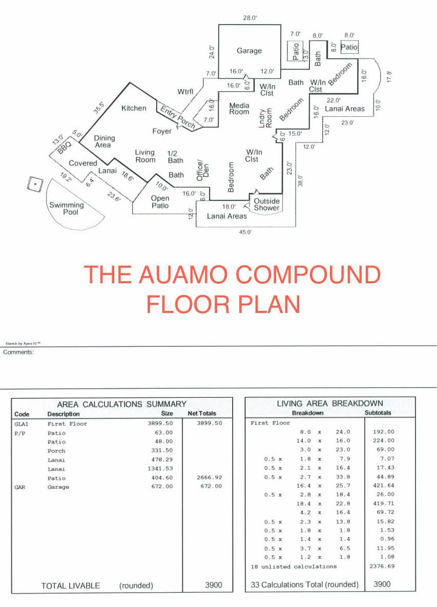 The Auamo Compound - Floor Plan