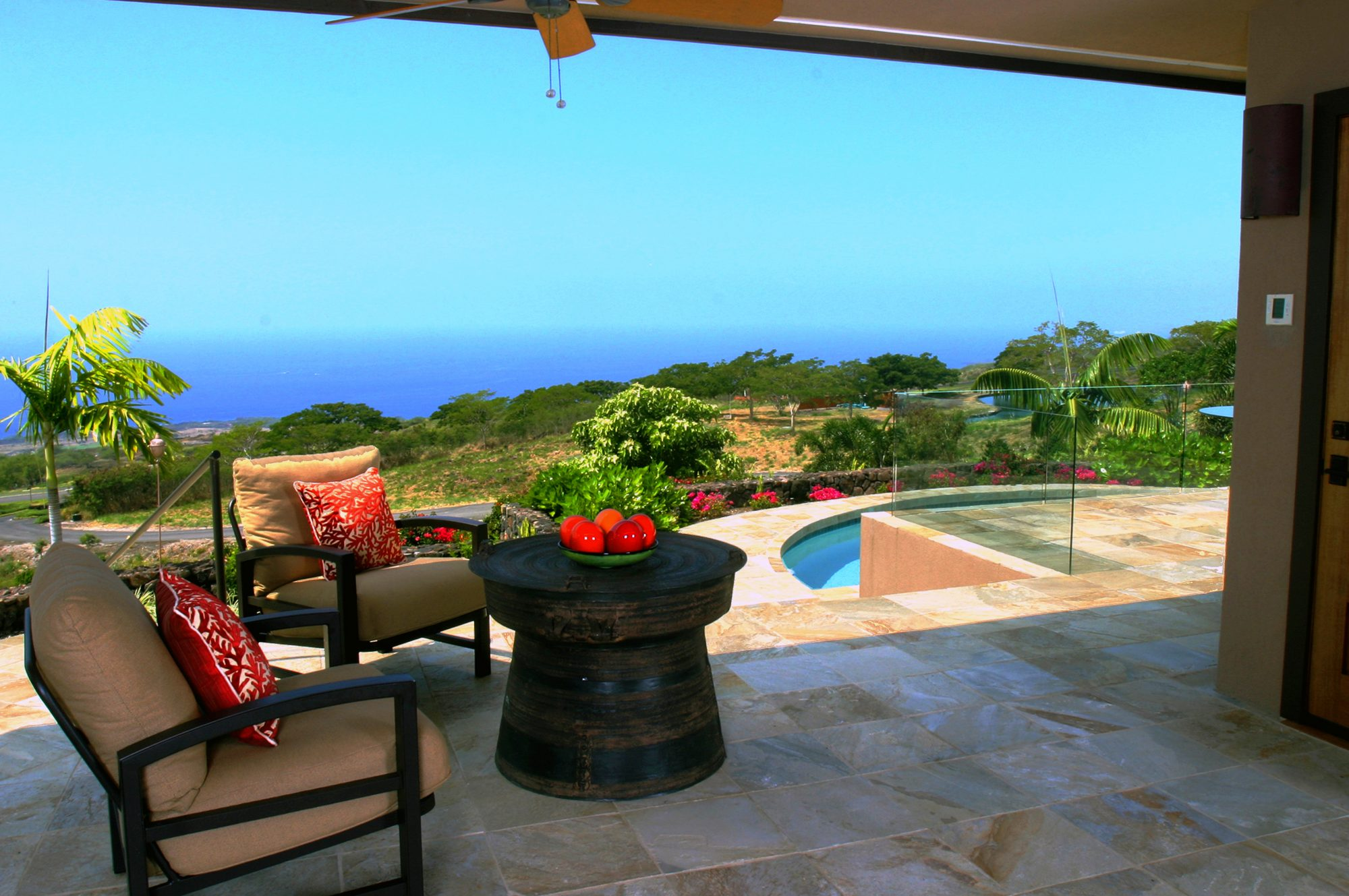 *The Auamo Compound, The West Lanai and View